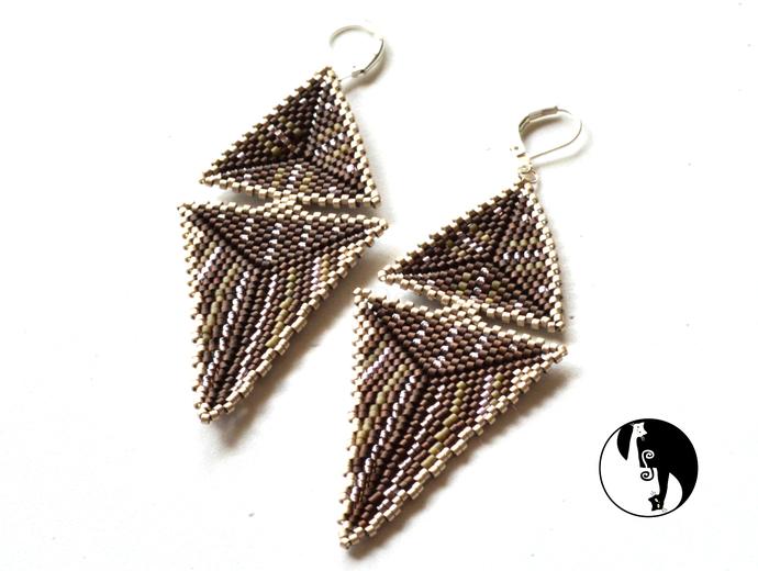 Elongated Triangle Earrings by DatzKatz