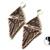 Elongated Triangle Earrings Tutorial by DatzKatz