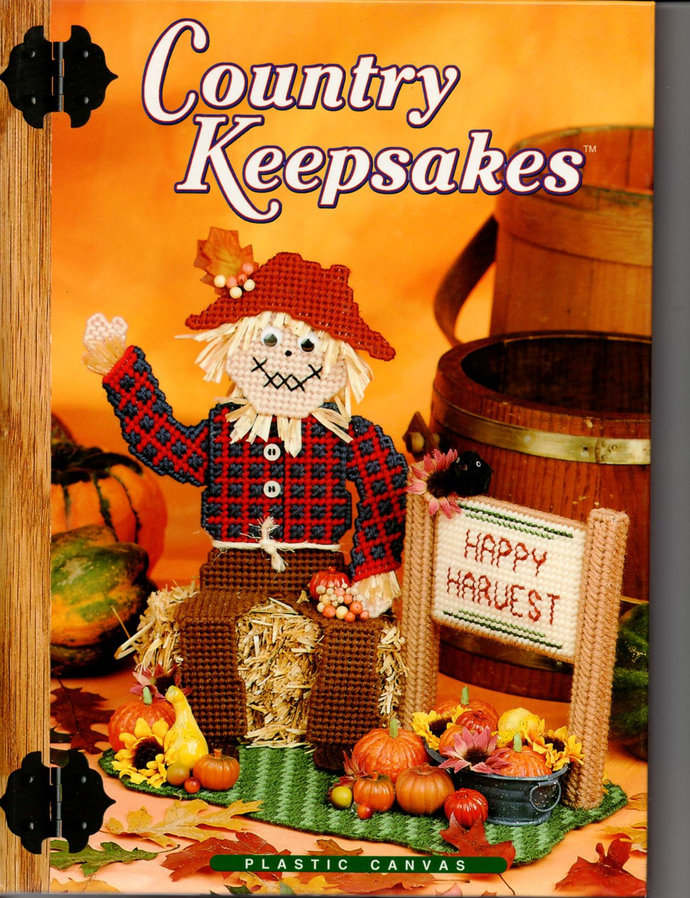 Country Keepsakes Plastic Canvas Pattern Book Needlecraft Shop Christmas,