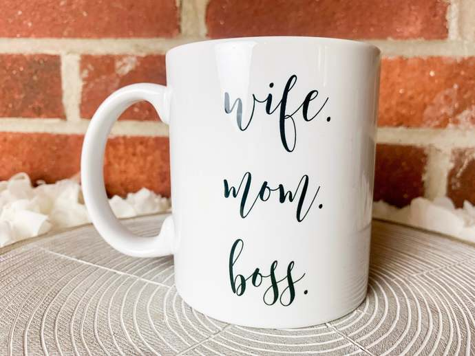 Wife Mom Boss Coffee Mug Mothers Day Coffee Mug Mothers Day Gift Wife Mom Boss