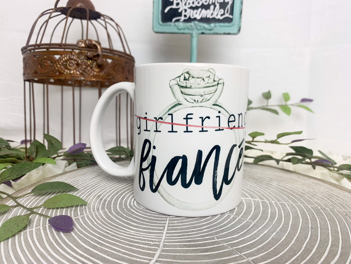 Fiancé Coffee Mug Newly Engaged gift fiancé coffee mug newly engaged  offee mug