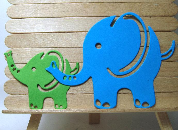 2pc Elephant Metal Cutting Die Set