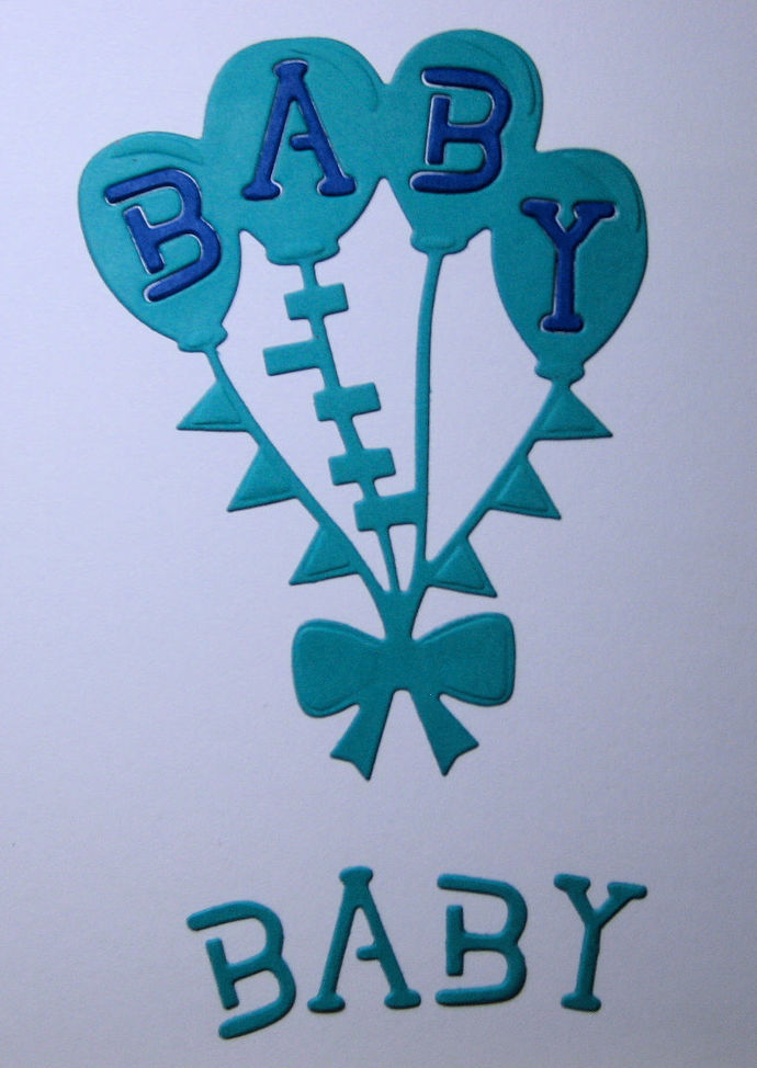 Baby Balloons Metal Cutting Die