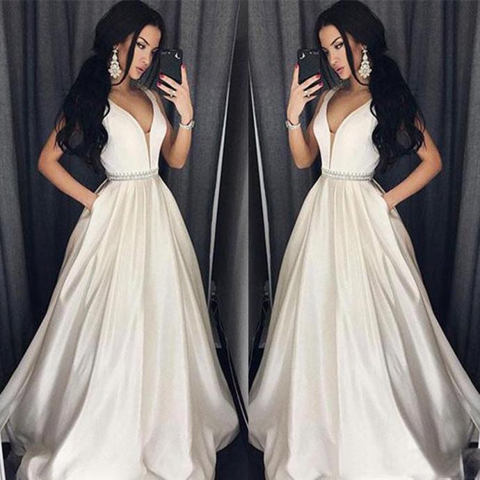 Elegant Plus Size Prom Dresses A-Line Floor-length Long Formal Dress Evening