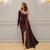 Purple One Shoulder Sheath Prom Dresses 2019 Hot Selling Custom Made Applique