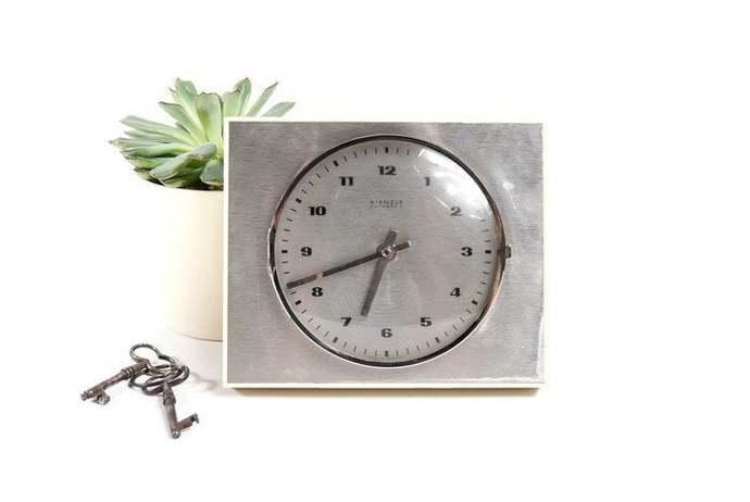 Mid Century Modern Wall Clock, Kitchen Clock, Industrial Clock, Modern Clock,