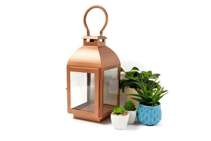 Hanging Candle Lantern, Vintage Copper Colour Lantern, Rustic Candle Lantern,