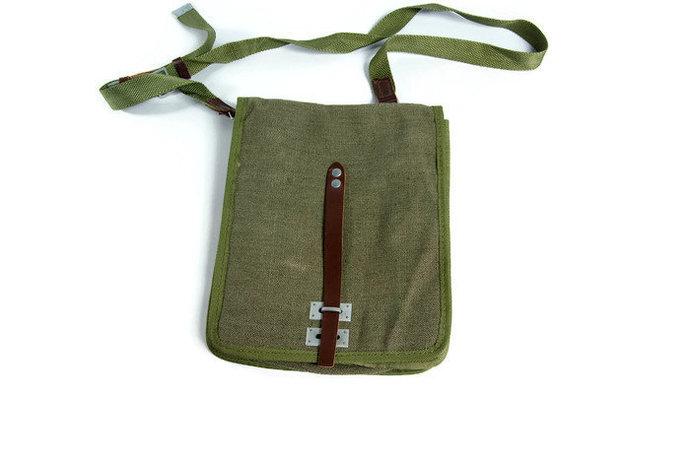Army bag, messenger bag, shoulder bag, crossbody bag, mens messenger bag,
