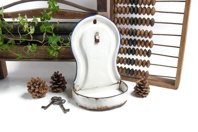 Bathroom wall decor, soap dispenser, bathroom organizer, rustic canister,