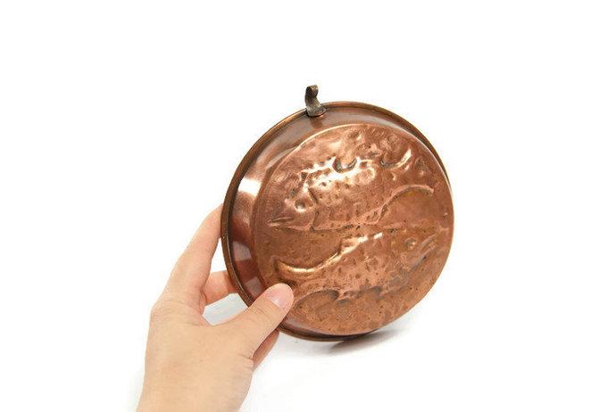 Copper mold, copper kitchen decor, kitchen wall decor, wall hanging mold, copper