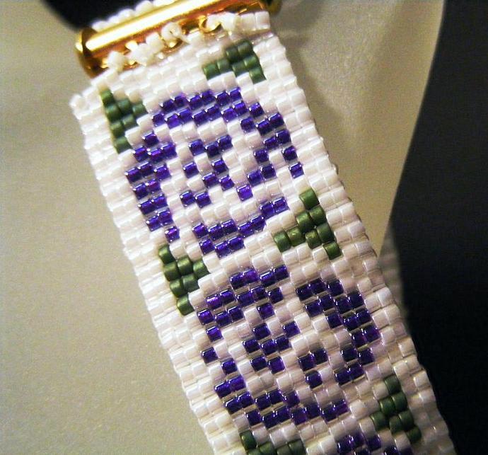 Purple Roses Nouveau Rose Bracelet