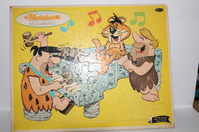 Hard To Find- Vintage 1962 The Flintstones Frame-Tray Puzzle, Whitman, Hanna