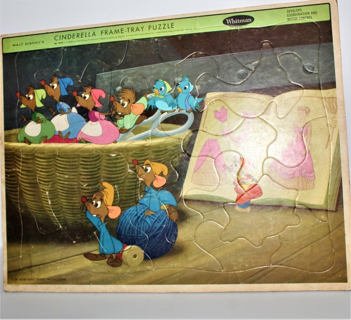 1950 WHITMAN Walt Disney CINDERELLA Frame Tray Puzzle #4426