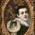 Renaissance Man and His Cat Digital Collage Greeting Card2453