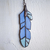 """Daily Calm,"" Stained Glass Meditation Feather with Larimar and Quartz"