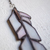 """""""Delighted Joy,"""" Stained Glass Meditation Feather with Quartz"""
