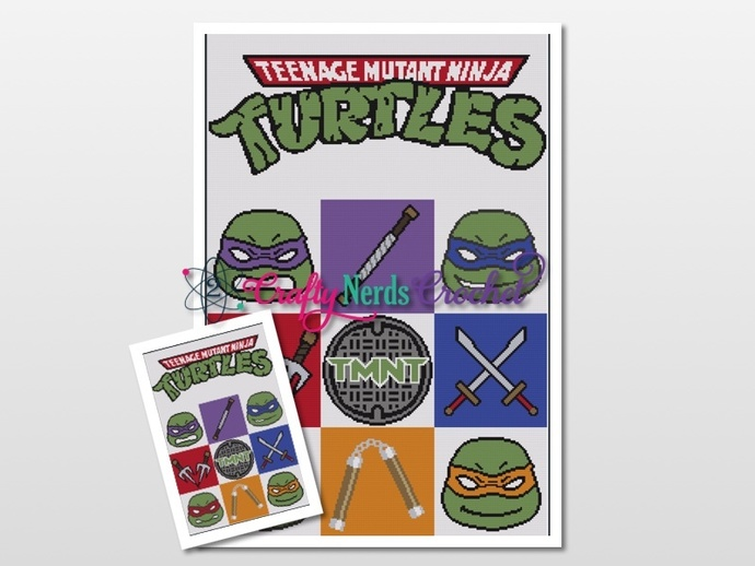 TMNT Small Cal Bundle Pattern Graph With TSS Written
