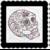 Skull 5b-Digital Kit-Jewelry Tag-Clipart-Gift Tag-Holiday-Digital