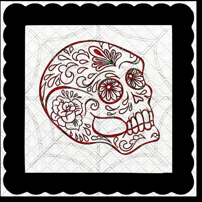 Skull 6b-Digital Kit-Jewelry Tag-Clipart-Gift Tag-Holiday-Digital