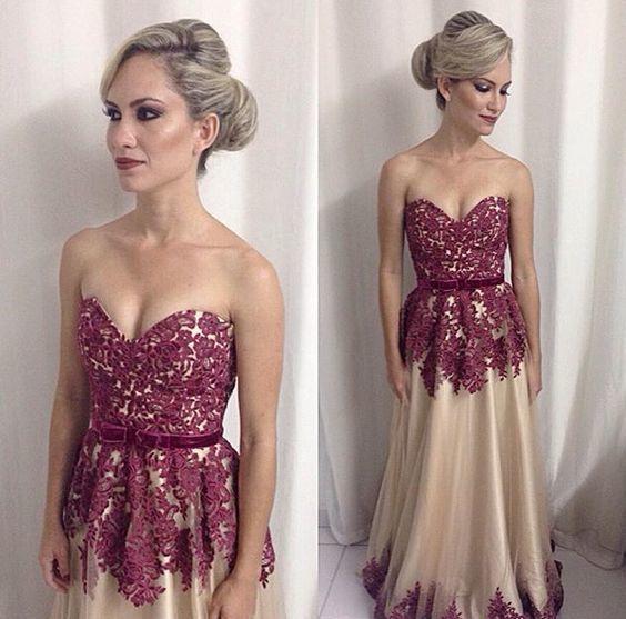 Charming Prom Dress,A-Line Prom Dress,Sweetheart Prom Dress,Applqiues Evening