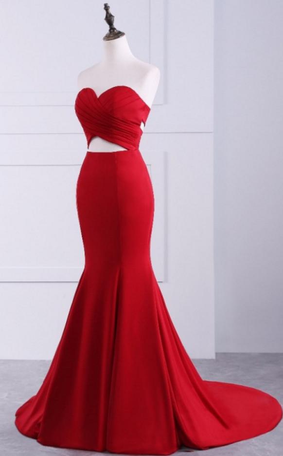 red mermaid Prom Dresses Evening Dresses Evening Dress long mermaid dresses