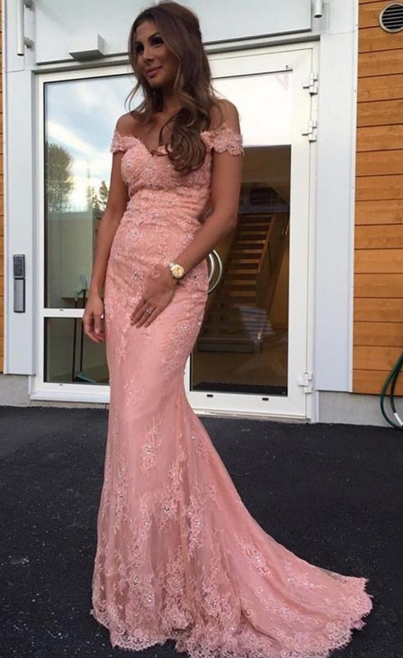 Mermaid Lace Prom Dress,Long Prom Dresses,Prom Dresses,Evening Dress