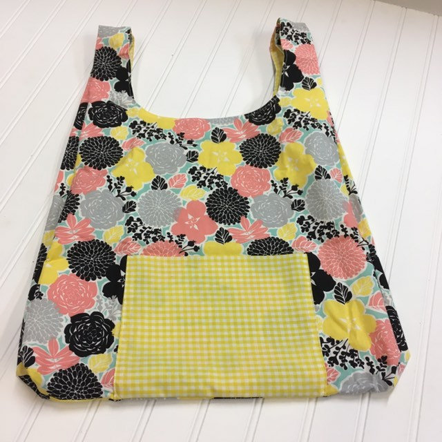 Vintage cotton compact reusable grocery tote