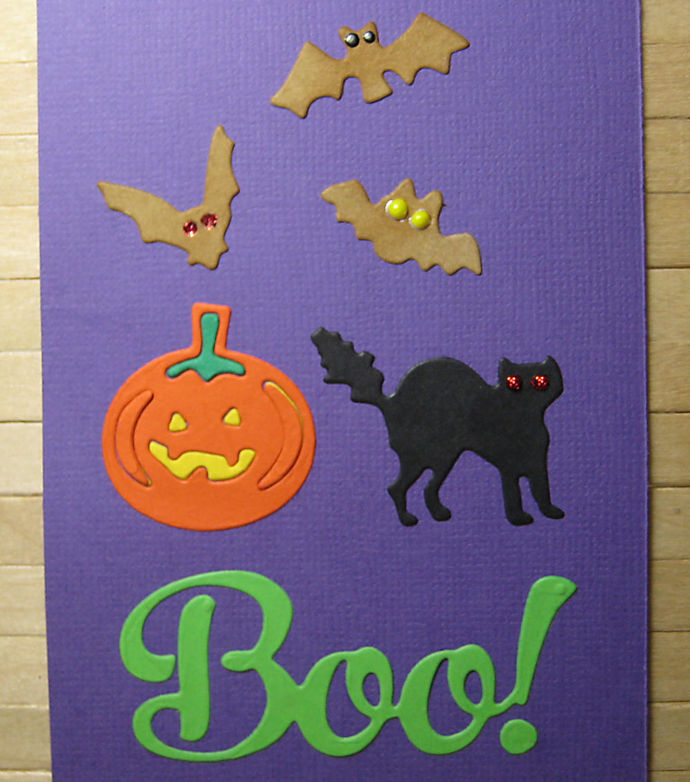Boo Pumpkin Cat Bats Halloween Cutting Die Set