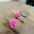 Pink Magnesite Dangle Earrings, Breast Cancer Awareness, Think Pink in October