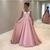 2019 Vintage A Line Pink Prom Dresses Lace Appliqued Cap Sleeve Sheer Back