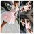 Deep V-Neck Pink Short Prom Dresses Lace Illusion Long Sleeves Short Homecoming