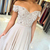 Popular A Line Prom Dresses with Lace Appliques Beaded Off Shoulder Sweetheart