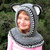 Crochet Cowl Pattern Hooded Cowl with Ears Bear Wolf Fox Cat Cowls Animals Hat