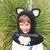 Bear Cat Fox Wolf Hooded Cowl Crochet Pattern 120 Crochet Cowl with Ears Animals