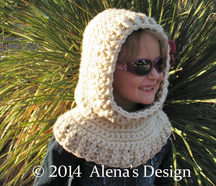 Crochet Cowl Pattern with Flower Hooded Cowl Crochet Pattern 113 Crochet Hood