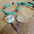 Cherokee Language Tsalagi Corn Bead Choker Necklace, Seed Bead Jewelry