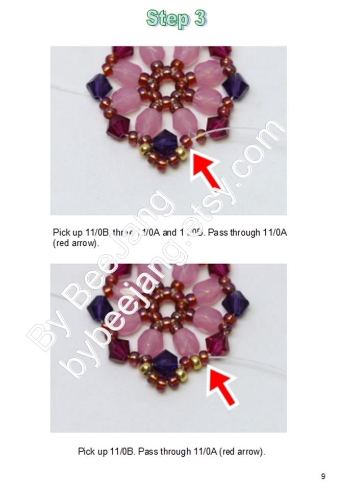Beading Patterns - Rosamund Bracelet - Bracelet Tutorials - Digital Download -