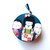 Measuring Tape Japanese Kokeshi Dolls Retractable Small Tape Measure