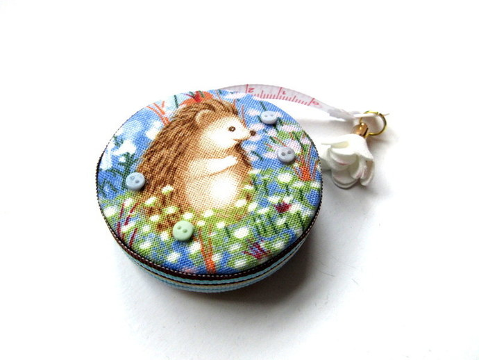 Tape Measure Hedgehogs in Flower Field Small Retractable Measuring Tape