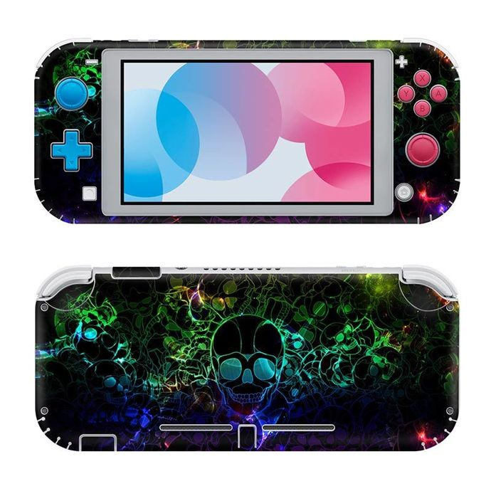 Skull abstraction Nintendo switch lite Skin