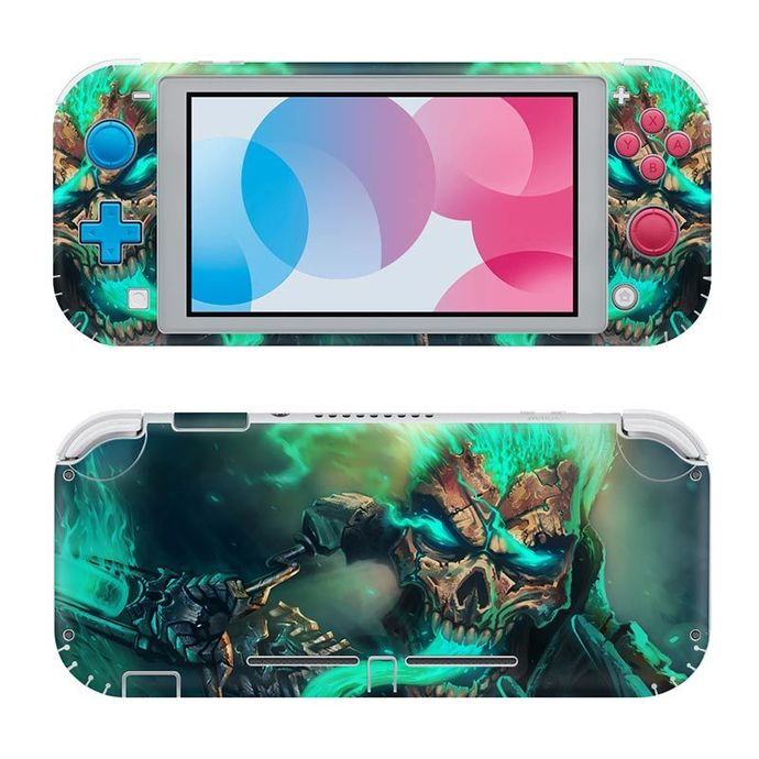Skull abstraction Nintendo switch lite Skin
