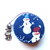 Tape Measure Country Snowmen Retractable Measuring Tape