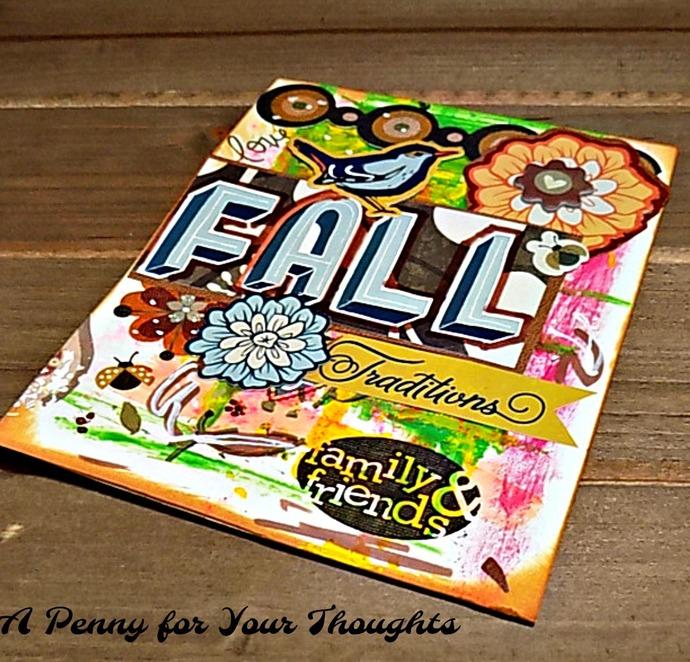 Fall Traditions Handmade Greeting Card. Ready to Ship.