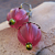 Pink Carved Lucite Earrings