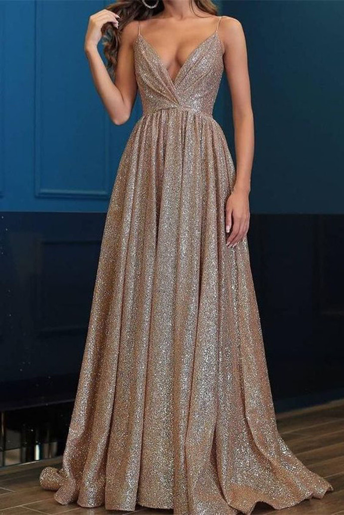 Prom Dresses Long,Prom Dresses Spaghetti Straps,Prom Dresses V-Neck,Prom Dresses