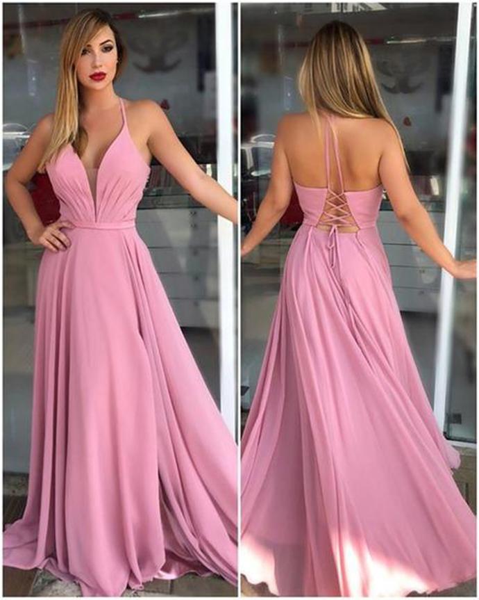 Prom Dresses Long,Prom Dresses Halter,Prom Dresses V-Neck,Prom Dresses