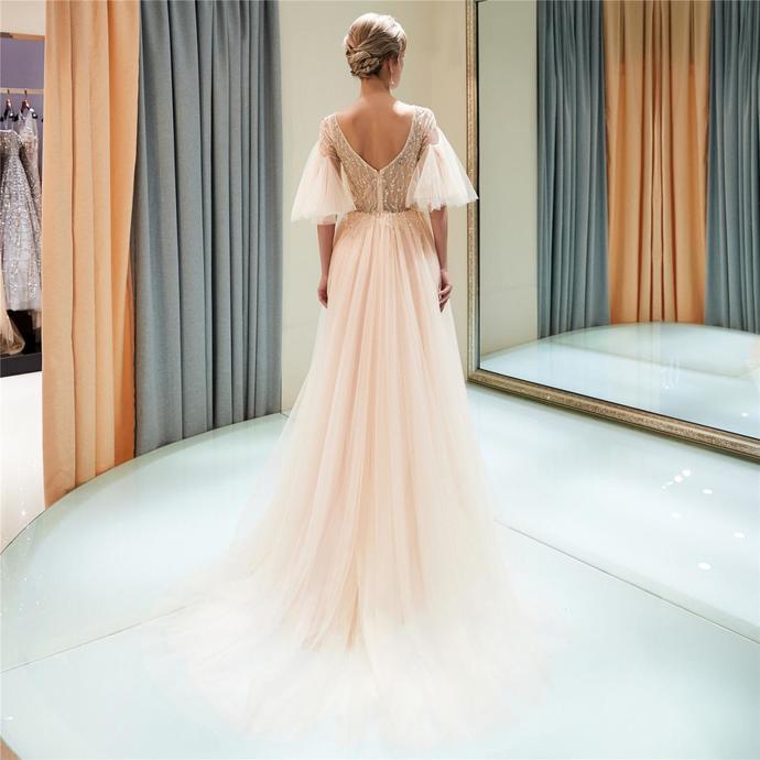 Prom Dresses Long,Prom Dresses Beaded,Prom Dresses Short Sleeve,Prom Dresses