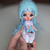 Sarsarblanki Custom Petite Blythe Doll Little Bluey - OOAK handmade custom ブライス