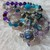 Magic! Long Beaded Necklace with Pendant Blue Gray Labradorite with Amethyst