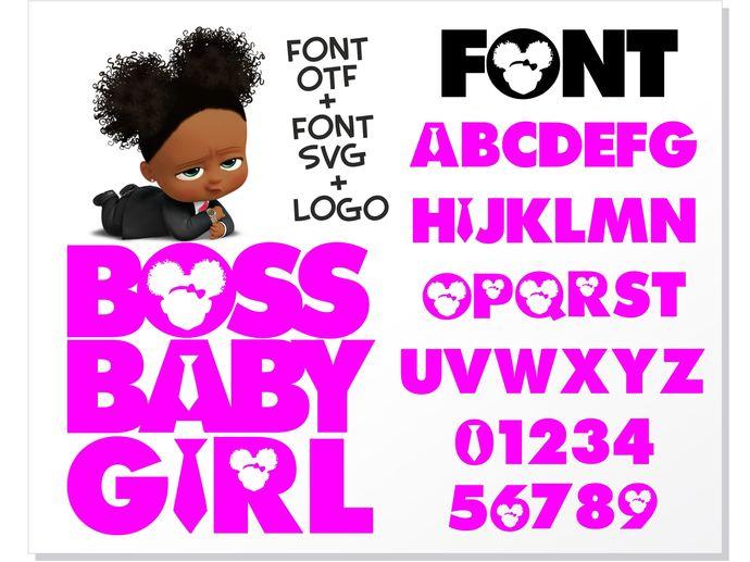 Boss Baby Girl font installable font OTF + Boss by HotFont ...
